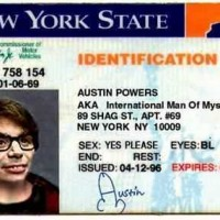 La carte d'identit� d'Austin Powers