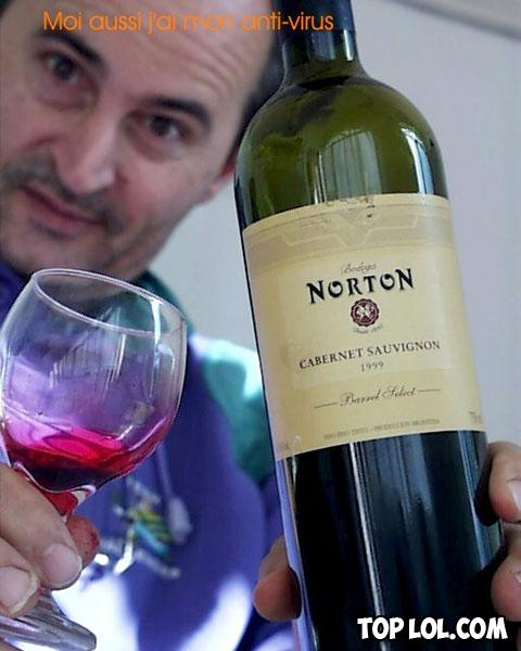 Du vin Norton (contre les virus?)